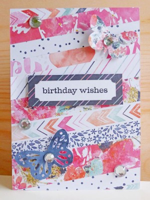 Cocoa Vanilla Studio - Free Spirit - Birthday wishes card
