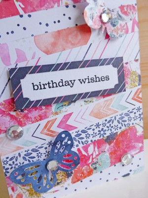 Cocoa Vanilla Studio - Free Spirit - Birthday wishes card - detail