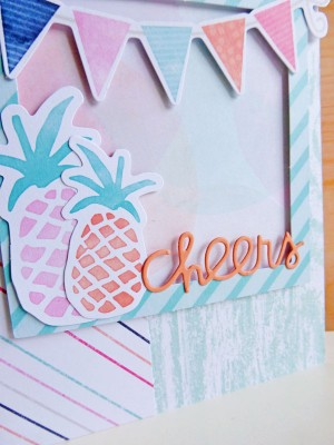 Cocoa Vanilla Studio - Free Spirit - Cheers card - detail