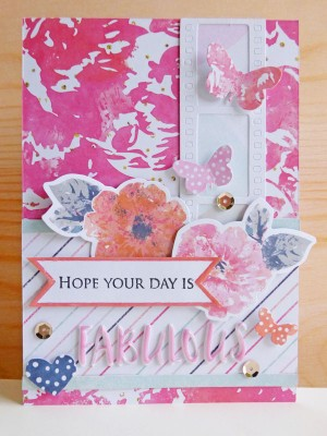Cocoa Vanilla Studio - Free Spirit - Hope your day is fabulous card