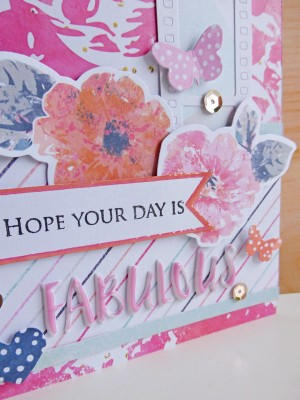 Cocoa Vanilla Studio - Free Spirit - Hope your day is fabulous card - detail