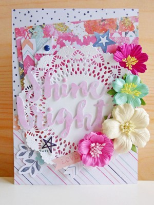 Cocoa Vanilla Studio - Free Spirit - Shine bright card