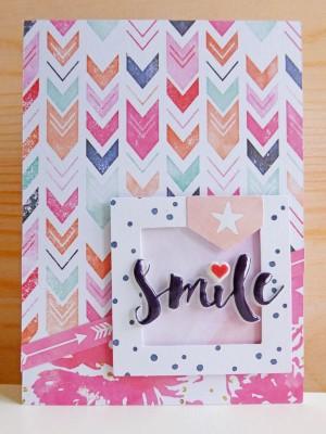Cocoa Vanilla Studio - Free Spirit - Smile card