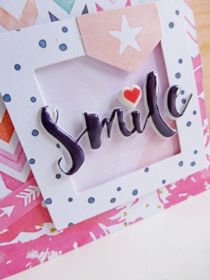 Cocoa Vanilla Studio - Free Spirit - Smile card - detail