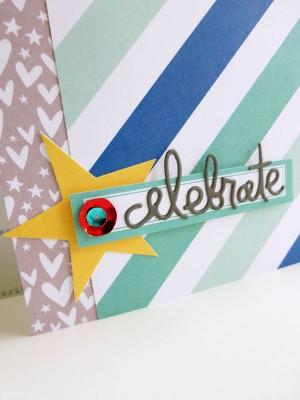 Elle's Studio - Sunny Days - Celebrate card - detail
