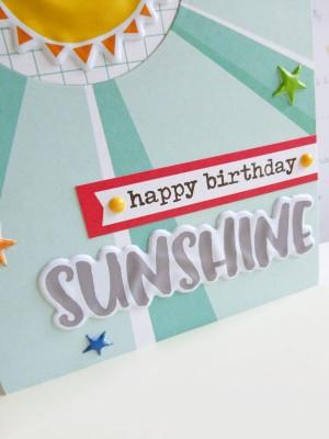 Elle's Studio - Sunny Days - Happy birthday sunshine card - detail
