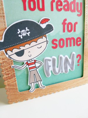 Elle's Studio - Sunny Days - Pirate birthday card - detail