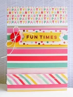 My Mind's Eye - Hooray - Fun times card