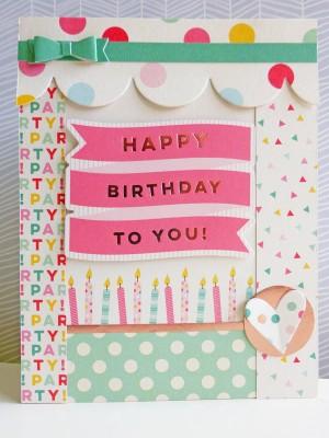 My Mind's Eye - Hooray - Happy birthday to you card