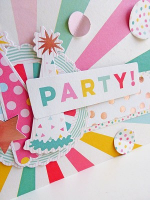 My Mind's Eye - Hooray - Party card - detail