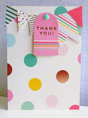 My Mind's Eye - Hooray - Thank you card