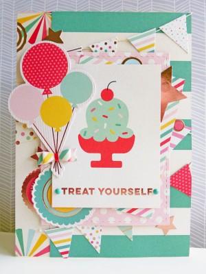 My Mind's Eye - Hooray - Treat yourself card