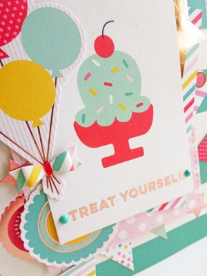 My Mind's Eye - Hooray - Treat yourself card - detail