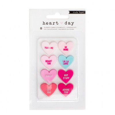 Rubber Heart Embellishments