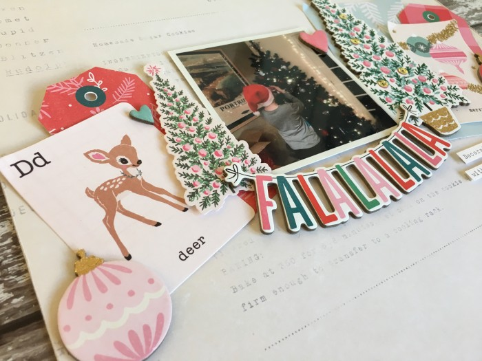 Jo Boland Hey Little Magpie DT Crate Paper Falala Falalalala Layout crop 2
