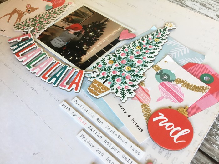 Jo Boland Hey Little Magpie DT Crate Paper Falala Falalalala Layout crop 3