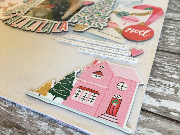 Jo Boland Hey Little Magpie DT Crate Paper Falala Falalalala Layout crop1
