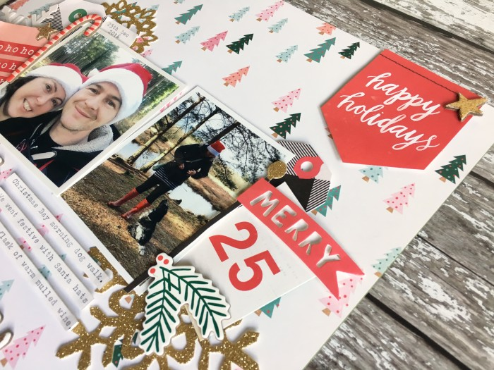 Jo Boland Hey Little Magpie DT Crate Paper Falala Merry Christmas Layout Crop2