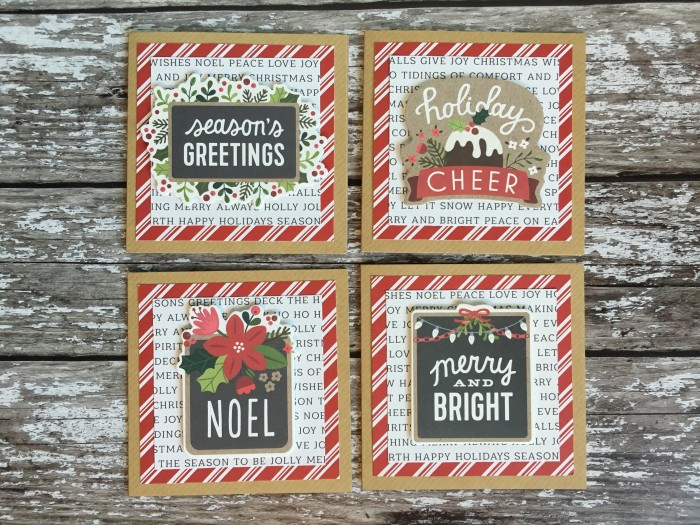 Jo Boland Hey Little Magpie Pebbles Merry Merry Christmas Cards set 4