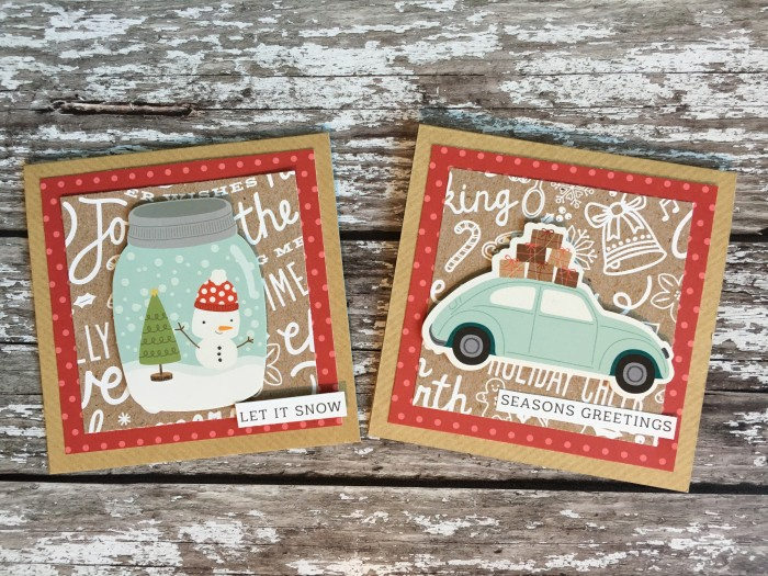 Jo Boland Hey Little Magpie Pebbles Merry Merry Christmas Cards set 5