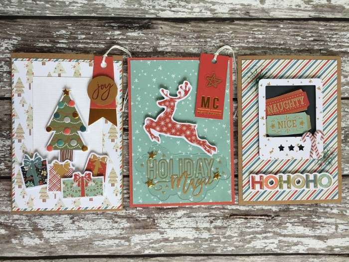 Jo Boland Hey Little Magpie Merry & Bright Christmas cards set1