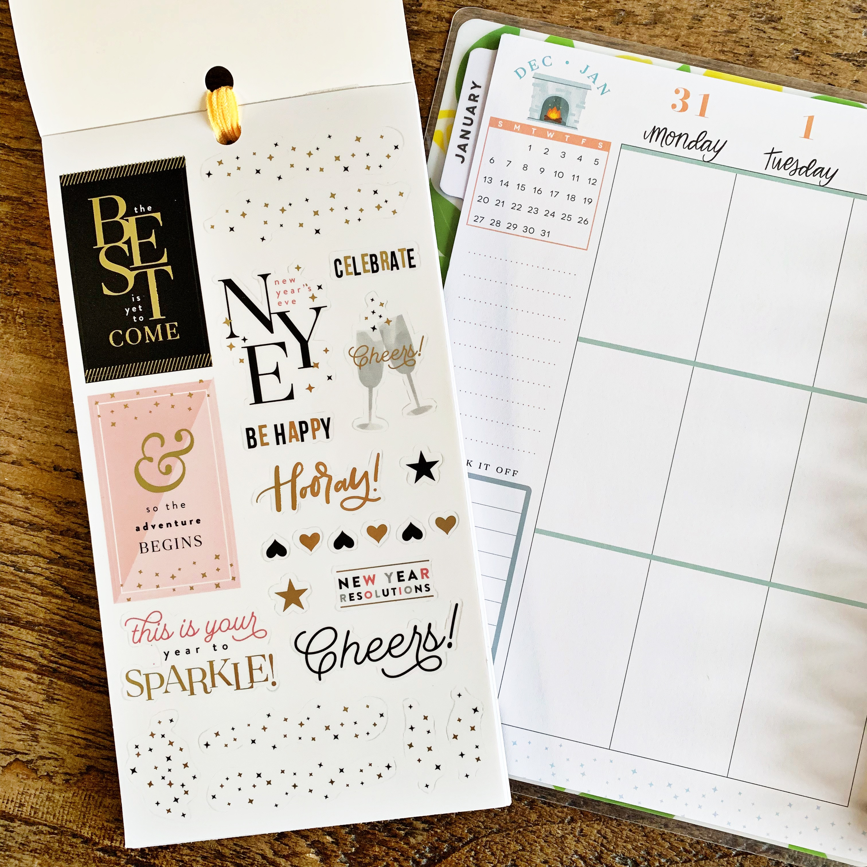 New Year's Stickers And Layout Inspiration