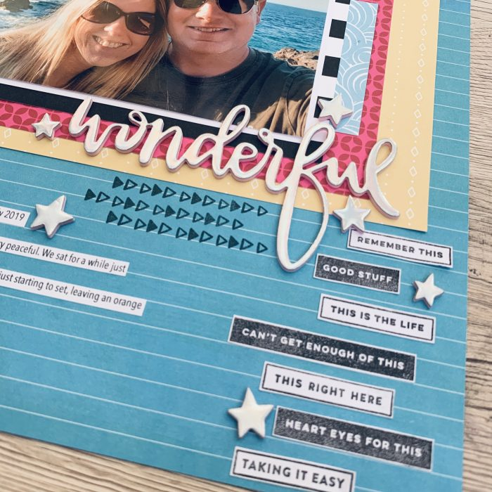 Layout using Shimelle Sparkle City