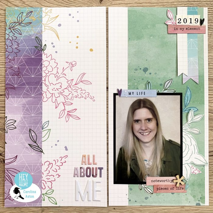 Layout using Pinkfresh Studio Just a Little Lovely