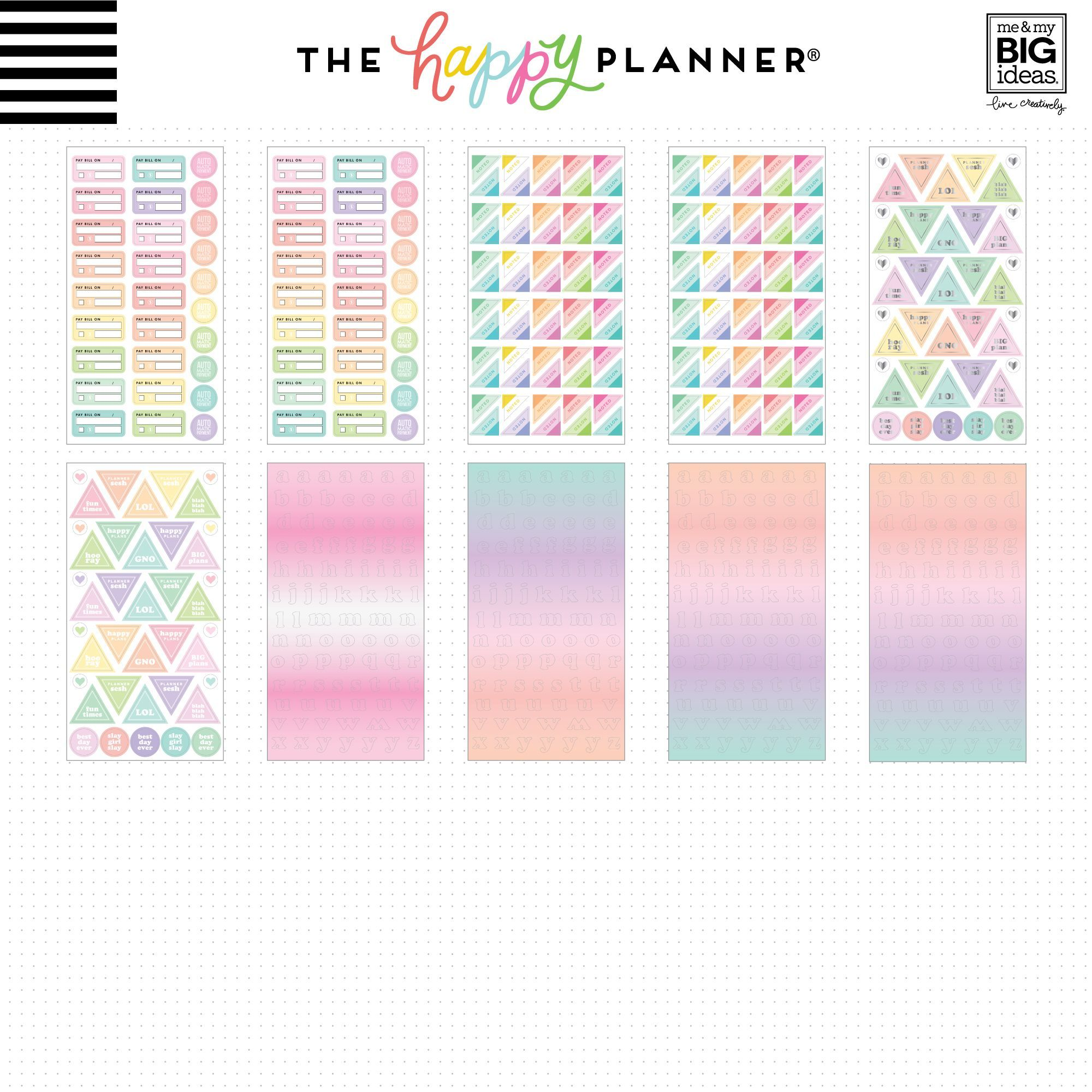 Pastel Mega Book NEW RELEASE The Happy Planner Stickers 2956 Pieces