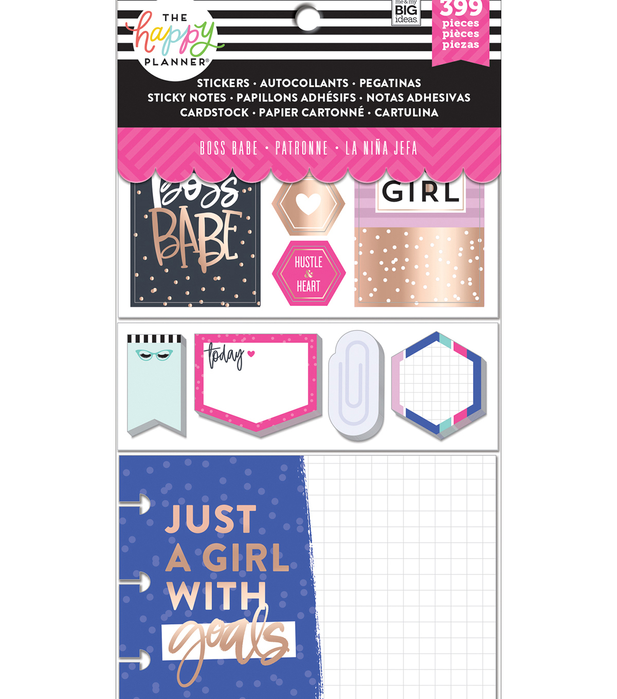 Me My Big Ideas The Happy Planner Sticker Sticky Note And Cardstock Multipack Boss Babe