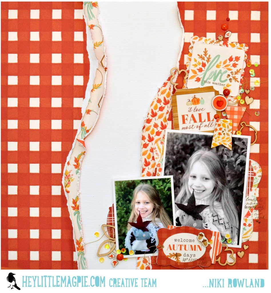 Autumn Scrapbooking with Carta Bella Fall Market with Process Video