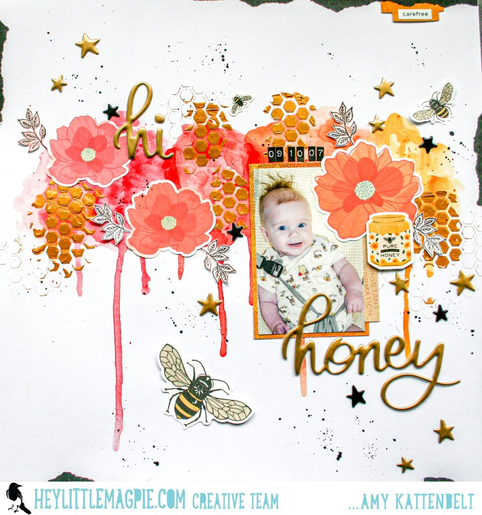 Mixed Media with Wildflower & Honey | Amy Kattenbelt