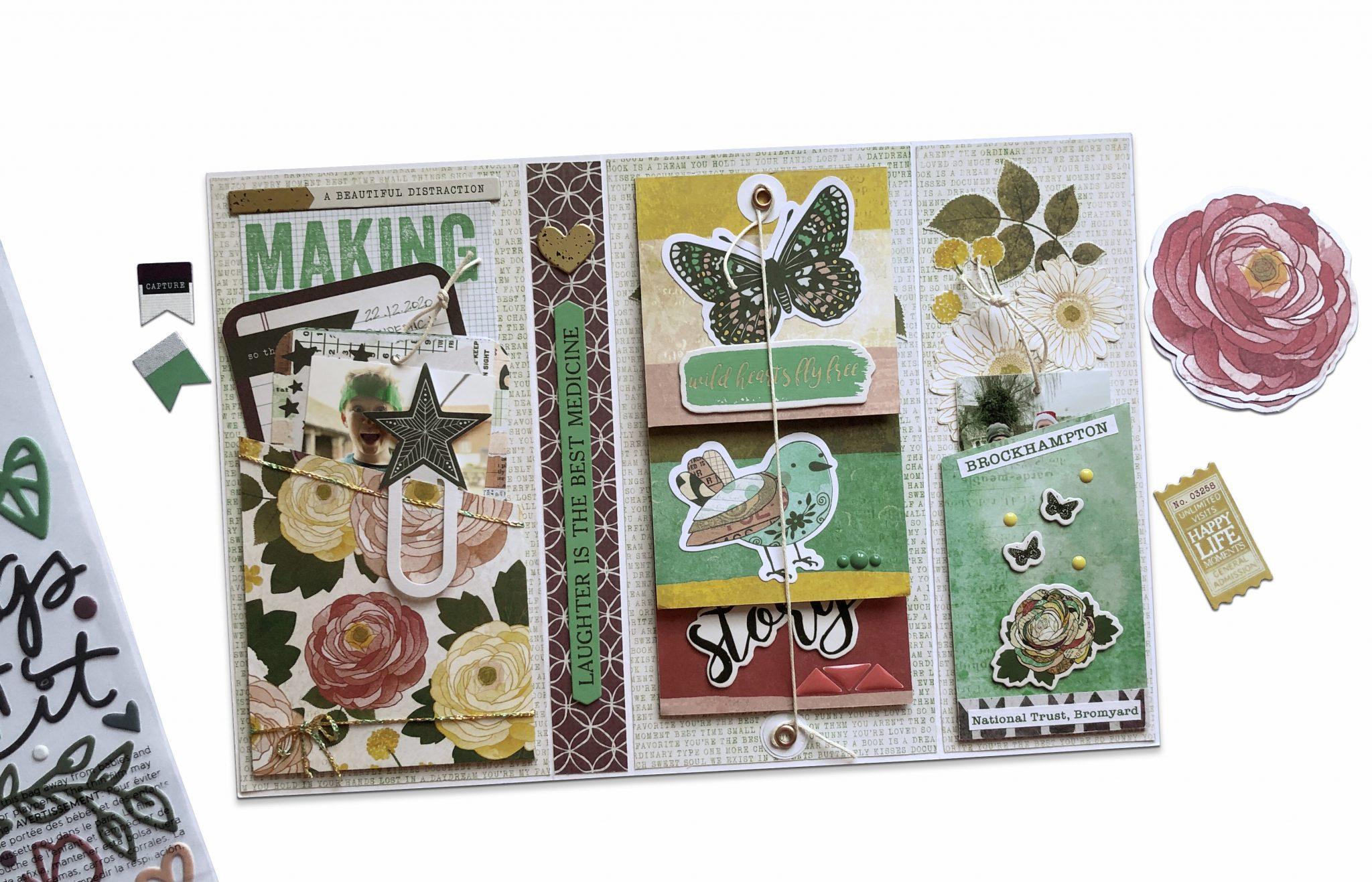 Tri-Fold Mini Book and a Layout | Vicki Boutin Storyteller | Giselle Homer