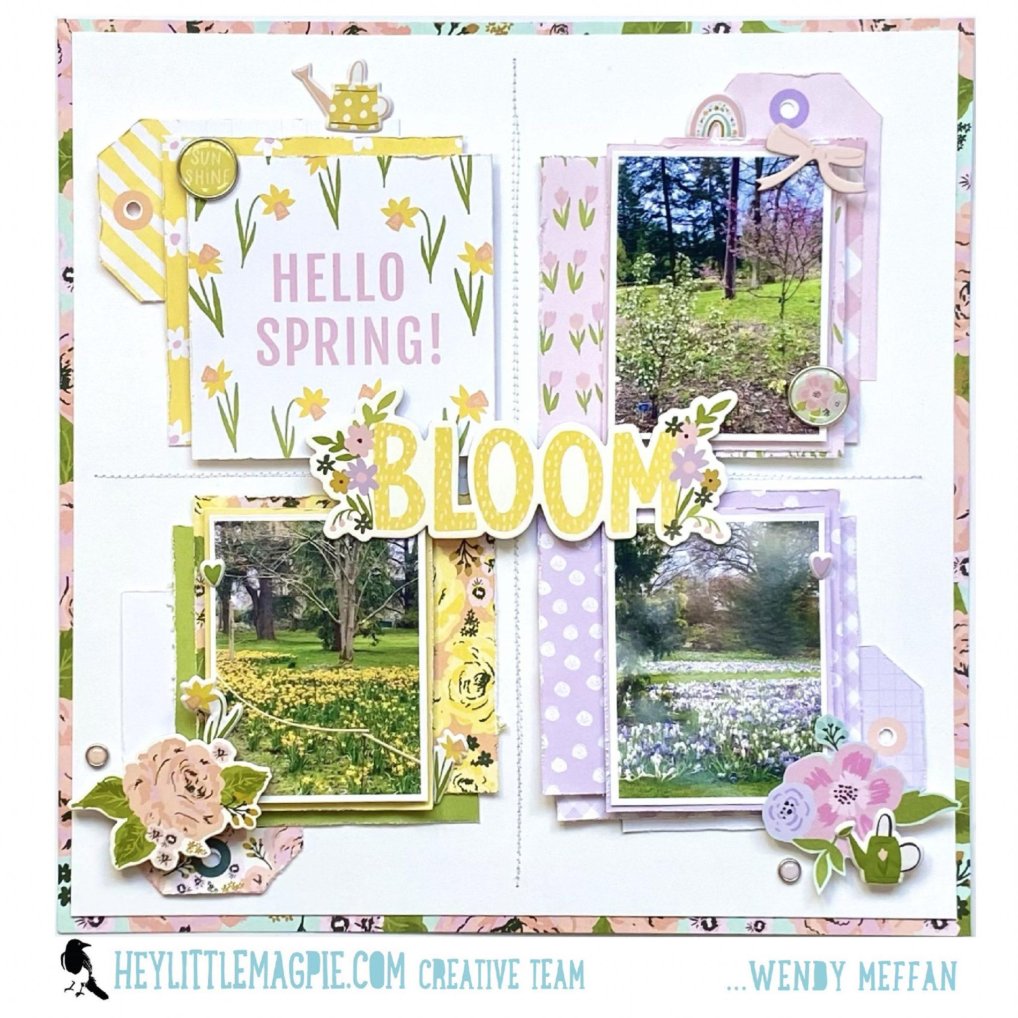 BLOOM! – Simple Stories – Bunnies and Blooms -Part 2 – Wendy Meffan